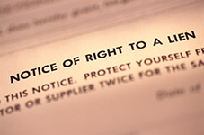 Notice of Right to a Lien